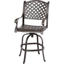 exterior cast aluminum outdoor patio swivel bar stool with swivel