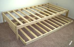 Bed Frame Build Build A Bed Frame With Trundle Bed Frame With Trundle