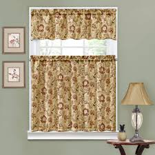 Discount Waverly Curtains Traditions By Waverly Navarra Floral Kitchen Curtain And Valence