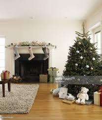 Christmas Livingroom Living Room With Christmas Tree And Christmas Stocking Hanging