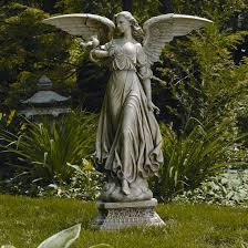 garden angel statue graceful memorial angel holding baby garden