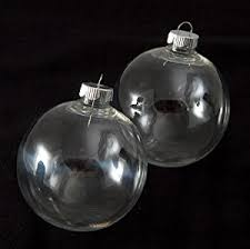 creative hobbies clear plastic ornaments