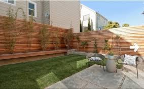 inspiring backyard fence line landscaping for fence gate