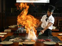 japanese restaurant cook at table about stafford kobe japanese steak seafood house