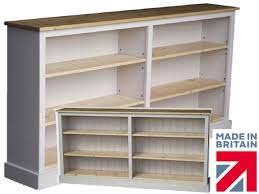 White Low Bookcase by Low White Bookcase 6ft Wide Painted Adjustable Shelving Unit