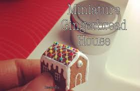 mini gingerbread house tutorial youtube