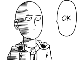 Okey Meme - one punch man saitama ok transparent png stickpng