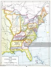map usa in 1800 color coded map of usa pictures getty images