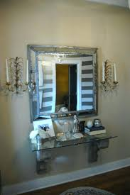 foyer mirrors mirror with shelf for foyer entry wall mounted console