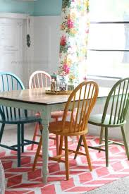 colorful kitchen chairs american chalky paint tutorial chalky paint colorful chairs and