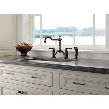 bridge kitchen faucet with side spray faucet com 62536lf pn in brilliance polished nickel by brizo