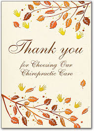 thanksgiving and fall themed postcards smartpractice chiropractic