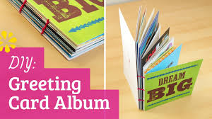 diy greeting card album perfect for holiday birthday or grad