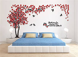 living room wall stickers 3d couple tree wall murals for living room bedroom sofa backdrop
