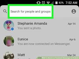image search android how to search on messenger on android 4 steps