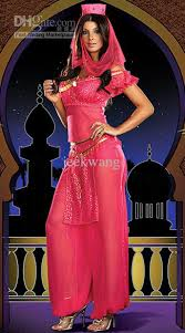 Belly Dance Halloween Costume Lingerie Belly Dancer Arabian Princess Jasmine Halloween