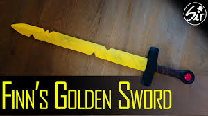 how to make finn s golden sword out of wood diy