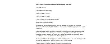 how to write a resignation letter effective immediately cover