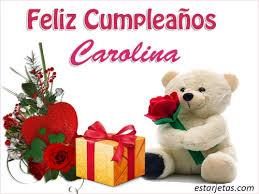 imagenes de feliz cumpleaños carito feliz cumpleaños carolina 6 imágenes de estarjetas com
