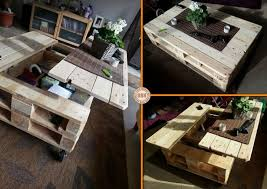 Coffee Table From Pallet Lift Top Pallet Coffee Table