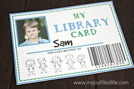 Library Card Invitation 32 Free Pretend Play Printables My Joy Filled Life
