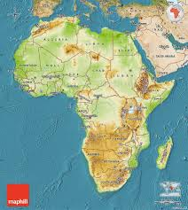 Maps Of Africa Physical Map Of Africa Satellite Outside