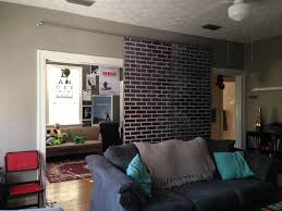 modern rustic brick wall living room decor with wonderful plan