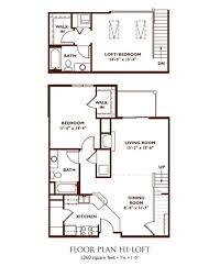bedroom floor plan 2 bedroom loft