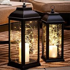 old lantern battery opereated lights inside no plug needed and