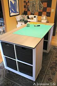 diy counter height craft table a jennuine life