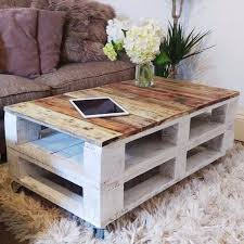 Coffee Table From Pallet Pallet Coffee Table Lemmik Farmhouse Style Reclaimed Upcycled