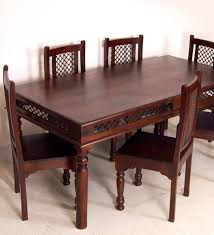 Dining Table India Sheesham Wood Dining Set With Set Of Six Chairs Funky