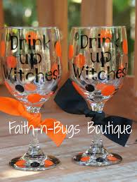 drink up witches halloween wineglass perfect for your halloween
