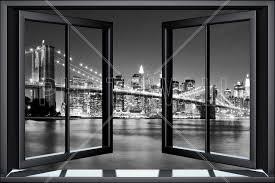 bright brooklyn bridge through window wall mural photo bright brooklyn bridge through window wall mural photo wallpaper photowall