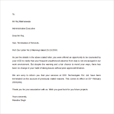 job termination letter 7 download in pdf word