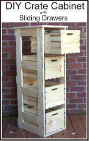 Diy File Cabinet Diy Crate Cabinet With Sliding Drawers Crates Drawers And Storage