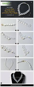 white pearl beaded necklace images How to make crystal glass bead necklaces with white pearl beads jpg