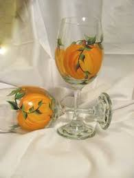 painted fall pumpkin thanksgiving wine glasses new design