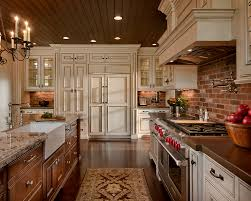 interior design remarkable brick backsplash with wood countertops