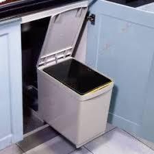 bac poubelle cuisine poubelle coulissante rectangulaire 1 bac 16 litres organisation