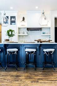 kitchen contemporary cobalt blue backsplash subway tile