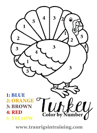 thanksgiving color by letter sheets color by number kindergarten for