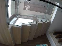 stairway glass railing install la jolla patriot glass and