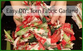 Easy Diy Christmas Tree Garland Super Easy Diy Torn Fabric Garland Youtube