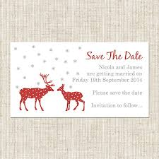 Save The Date Cards Reindeer Stars Save The Date Magnets