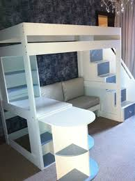 Bunk Bed With Desk And Stairs Tween Loft Bed With Pullout Desk Sofa And Multi Functional Stairs