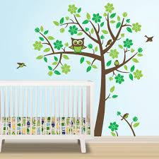 Nursery Tree Stickers For Walls Owl Tree Decal Owl Nursery Theme Tree Wall Decal To Match