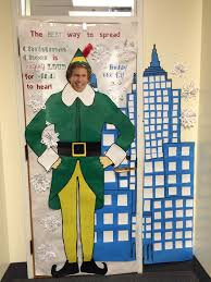 christmas classroom door decorations buddy the elf spreading
