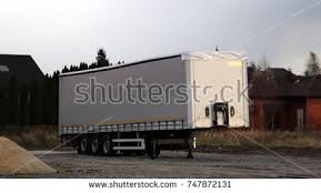 Cargo Trailer Awning Three Axle Stock Images Royalty Free Images U0026 Vectors Shutterstock