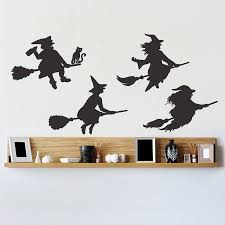 halloween witches wall sticker set by oakdene designs